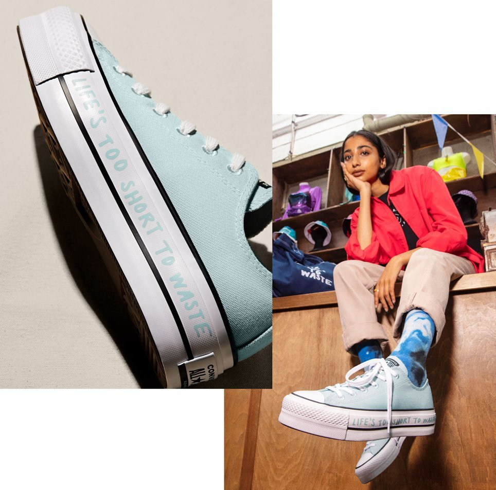All Star made of recycled materials thanks to